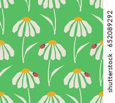 seamless pattern with flowers... | Shutterstock .eps vector #652089292