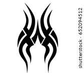 tribal tattoo art designs.... | Shutterstock .eps vector #652094512