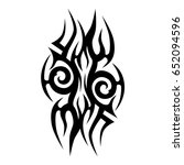 tribal tattoo art designs.... | Shutterstock .eps vector #652094596
