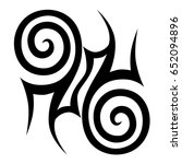 tribal tattoo art designs.... | Shutterstock .eps vector #652094896