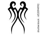 tribal tattoo art designs.... | Shutterstock .eps vector #652094992