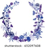 floral wreath | Shutterstock .eps vector #652097608