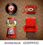 Vintage Items In Red Color...