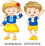 boy and girl from ukraine...