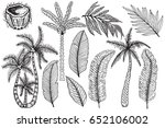 vector tropical set with... | Shutterstock .eps vector #652106002
