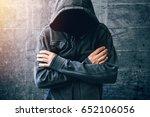 hopeless drug addict going... | Shutterstock . vector #652106056