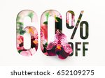 60  off discount promotion sale ... | Shutterstock . vector #652109275