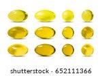 yellow vector 3d pills. | Shutterstock .eps vector #652111366