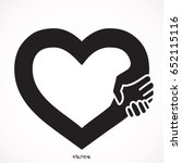 handshake in the form of heart | Shutterstock .eps vector #652115116