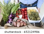 potatoes  peppers  onions ... | Shutterstock . vector #652124986