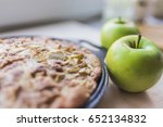 Freshly Baked Apple Pie In A...