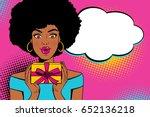wow pop art face. young sexy... | Shutterstock .eps vector #652136218