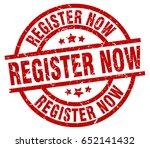 register now round red grunge... | Shutterstock .eps vector #652141432