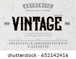 font. alphabet. script.... | Shutterstock .eps vector #652142416