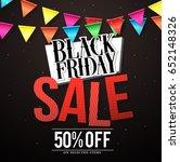 black friday sale vector banner ...   Shutterstock .eps vector #652148326