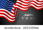 national flag of united states... | Shutterstock .eps vector #652155466
