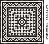 black and white tribal vector... | Shutterstock .eps vector #652161196