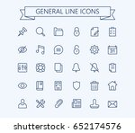 general vector icons set. thin...