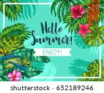 stylish colorful typographical... | Shutterstock .eps vector #652189246