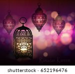 ramadan kareem greetings | Shutterstock .eps vector #652196476