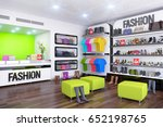 3d render   interior of fashion ... | Shutterstock . vector #652198765
