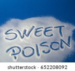 sugar on a blue background with ... | Shutterstock . vector #652208092
