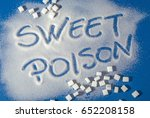 sugar on a blue background with ... | Shutterstock . vector #652208158