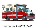 fire department ambulance truck.... | Shutterstock .eps vector #652210405