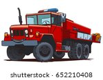 brush fire truck. cartoon...   Shutterstock .eps vector #652210408
