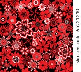 seamless pattern with red and... | Shutterstock .eps vector #65221210