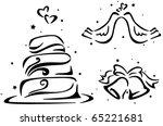 wedding stencil featuring a... | Shutterstock .eps vector #65221681