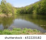 forest lake in the spring | Shutterstock . vector #652220182