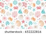 marine seamless background | Shutterstock .eps vector #652222816