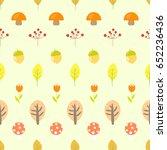 cute autumnal seamless  pattern ...   Shutterstock . vector #652236436