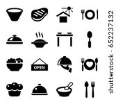 plate icons set. set of 16... | Shutterstock .eps vector #652237132