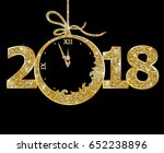 happy new year 2018  | Shutterstock .eps vector #652238896