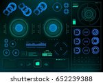 futuristic virtual graphic... | Shutterstock .eps vector #652239388