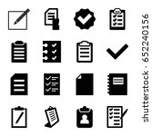 list icons set. set of 16 list... | Shutterstock .eps vector #652240156