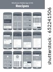 wireframe ui kit for mobile... | Shutterstock .eps vector #652241506