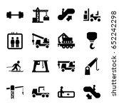 lift icons set. set of 16 lift...   Shutterstock .eps vector #652242298