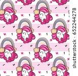 seamless pattern  beautiful... | Shutterstock .eps vector #652244278