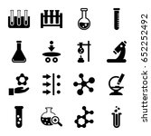 scientific icons set. set of 16 ... | Shutterstock .eps vector #652252492