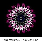 ornament on a black background. ... | Shutterstock . vector #652254112