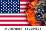 climate change and american...   Shutterstock . vector #652254835