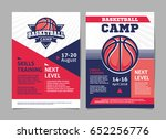 basketball camp posters  flyer... | Shutterstock .eps vector #652256776