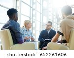 group of economists having... | Shutterstock . vector #652261606