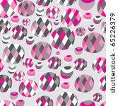 balls and circles seamless pattern - stock vector