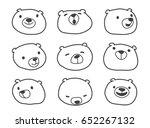bear polar bear face doodle... | Shutterstock .eps vector #652267132