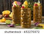 refreshing cold tiki drink... | Shutterstock . vector #652270372