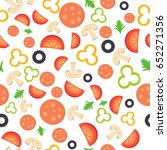 seamless pattern with the... | Shutterstock .eps vector #652271356